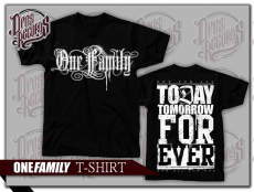 One Family - Shirt schwarz