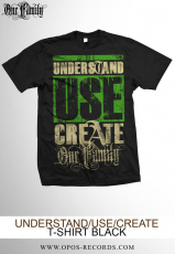 Understand Use Create - Shirt schwarz