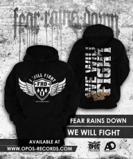 Fear Rains Down - We will fight - Kapuzenpullover