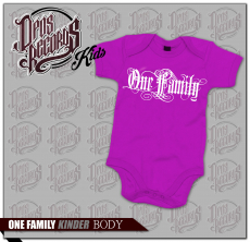 One Family - Kinder Body fuchsia