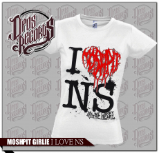 Moshpit - I love ... - Girly weiss