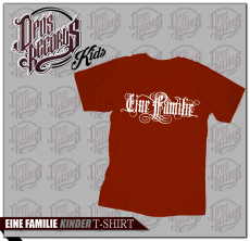 Eine Familie - Kinder Shirt rot
