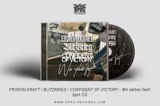 Frontalkraft / Blitzkrieg / Confident of Victory - Wir stehen fest! - 3er Split-CD