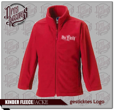 One Family - Kinder - Fleecejacke rot