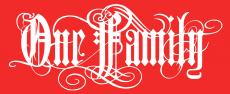 One Family - Aufkleber rot