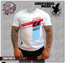 Greifvogel - FIGHTING 13 - T-Hemd weiß