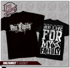 One Family - My life for my family - Shirt schwarz