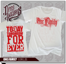 One Family - Girly weiß - roter Druck