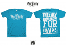 One Family - Shirt aqua