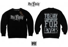 One Family - Pullover schwarz / Druck silber