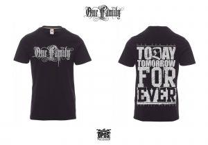 One Family - Shirt schwarz / silber Druck