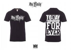 One Family - Shirt schwarz / weißer Druck