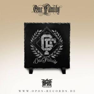 One Family - Schiefertafel