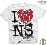 Moshpit - I love ... - Shirt weiss