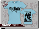 One Family - Girly blau