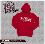 One Family - Kinder Kapuzenpullover rot