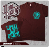 One Family - Loyal until death - Shirt burgundy