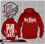 ONE FAMILY - Kapuzenpullover rot
