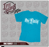 One Family - Kinder Shirt azurblau