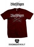 Blutzeugen - Messer - Hemd burgundy