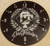 One Family - Glas Wanduhr