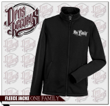 One Family - Herren - Fleecejacke schwarz