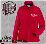 One Family - Damen - Fleecejacke rot