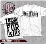 One Family - Shirt weiß / schwarzer Druck